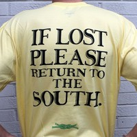 Return to the South Pocket Tee in Yellow by Knot Clothing & Belt Co.