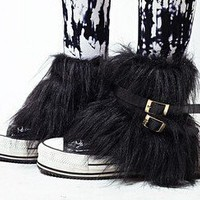 Winter Fur Buckles Belts Straps Leg Warmer by dithzzappear on Sense of Fashion