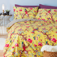 Flora and Fauna and Fabulous Duvet Cover Set in Full/Queen | Mod Retro Vintage Decor Accessories | ModCloth.com