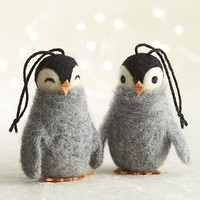 Wooly Penguin Ornaments in View All Ornaments | Crate&Barrel