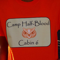 Percy Jackson Camp Half-Blood Shirt. Athena Cabin. Percy Jackson Inspired. Customize By Size And Color.