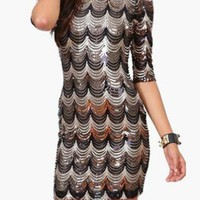 Black Rush Sequin Dress - Free Gift W Purchase