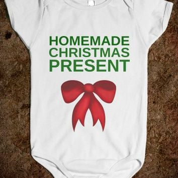 HOMEMADE CHRISTMAS PRESENT BABY ONE-PIECE
