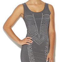 Studded Scoop Neck Dress