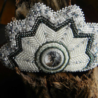 Winter Spirits Bead Embroidered Barrette