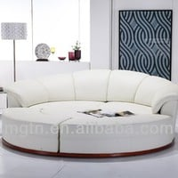 Home Furniture Modern Round Leather Sofa Bed Jb335 - Buy Round Leather Bed,Modern Sofa,Modern Sofa Bed Product on Alibaba.com