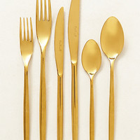 Doma Flatware by Anthropologie Gold Set Of 6 Flatware