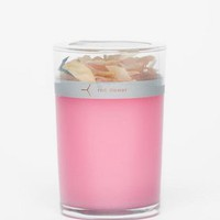 Red Flower Japanese Peony Petal Topped Candle :: tobi