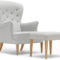 ch419 heritage lounge chair & ottoman