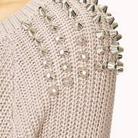 Studded Shoulder Sweater