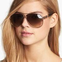 Gucci 'Marina Chain' 63mm Aviator Sunglasses | Nordstrom