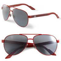 Gucci 'Ribbon' 58mm Aviator Sunglasses | Nordstrom