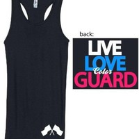 Junior's Live Love Color Guard Tank (Small, Black)