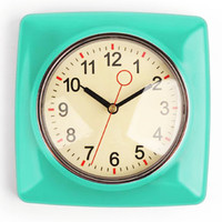Retro Wall Clock - Mint