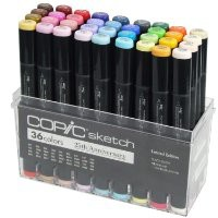 LIMITED EDITION COPIC 25th ANNIVERSARY SKETCH PEN SET 36 PENS
