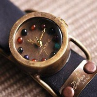 DoToo  unique gem handcraft watch  with lover by revolt70 on Etsy
