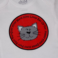 Soft Kitty Baby Bodysuit. Big Bang Theory Inspired. Can Be Customized By Size.