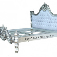 Silver Leaf Upholstered Royal Fortune Montespan Bed