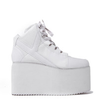 Y.R.U. Qozmo High Platform Sneaker in White