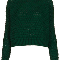 Knitted Chunky Bobble Jumper - Knitwear - Clothing - Topshop USA