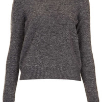 Knitted Crew Neck Jumper - Knitwear - Clothing - Topshop USA