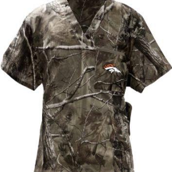 Denver Broncos Camouflage Scrubs, Camo Scrubs for Men