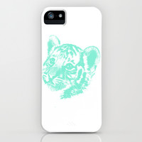 B-b-baby Tiger iPhone & iPod Case by Desirée