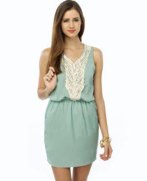 Cute Green Dress - Mint Dress - $39.00