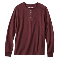 Mossimo Supply Co. Men's Long Sleeve Henley Shirt - Assorted Colors