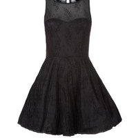AX Paris Black Lace Sweetheart Prom Dress