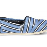TOMS+ Tabitha Simmons Blue Cricket Stripe Women's Classics