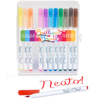 BRILLIANT BRUSH WASHABLE MARKERS