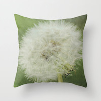 Pillow Cover Dandelion Photography Living Room Home Decor Bedroom Flower Photo Pillow Nature Throw Pillow Case Whimsical 16x16 18x18 20x20