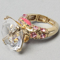 Karmaloop.com - Global Concrete Culture - The Crystal Stretch Engagement Ring by Betsey Johnson