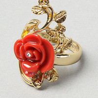 Karmaloop.com - Global Concrete Culture - The Rose Size Ring in Red &amp; Gold by Disney Couture Jewelry
