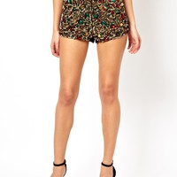 ASOS Knicker Short In Jewel Sequins