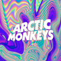 Psychedelic Arctic Monkeys Logo Stretched Canvas by julia