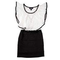 Amy Byer Girls 7-16 Belted Shimmer Dress with Necklace at Von Maur