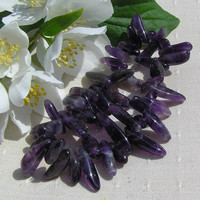 Purple Amethyst Crystal Gemstone Elasticated Bracelet - Special Offer