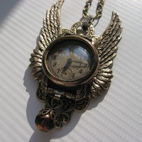 Steampunk Inspired Vintage Watchworks Necklace by steamheat