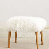 Mongolian Fur Stool
