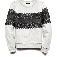 Heathered Lace Sweatshirt (Kids)