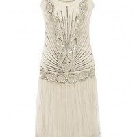 Zelda Flapper Dress Cream