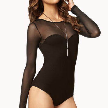 Mesh Ponte Knit Body Suit