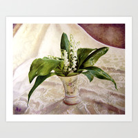 Lily of the Valley Art Print by Vargamari
