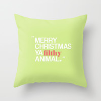 Home Alone: Merry Christmas Ya Filthy Animal Throw Pillow by hopealittle