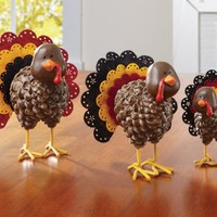 Lovable Turkey Figurines Fall Table Decorations By Collections Etc