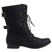 Zip Side Combat Boot