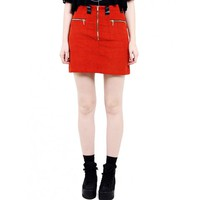 Mini Cord Zip Skirt by Youreyeslie.com Online store> Shop the collection