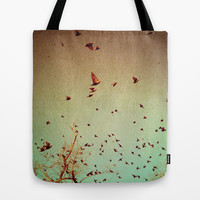 The Birds Tote Bag by Olivia Joy StClaire
